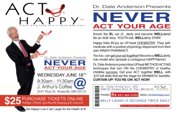 Never Act Your Age - Email Flyer